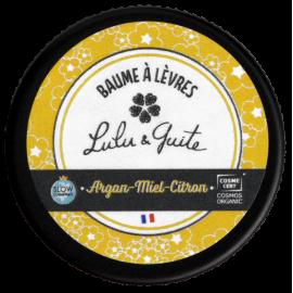 Baume à lèvres argan, miel et citron
