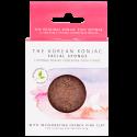 Eponge konjac visage à l'argile rose pour peaux sensibles : purifie, adoucit et repulpe la peau