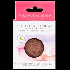 Eponge Konjac visage - Argile rose