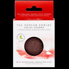 Eponge Konjac visage - Argile rouge
