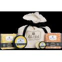 Coffret de soins naturels parfumés aux agrumes : 2 savons solides,1 baume à lèvres, 1 chantilly de karité