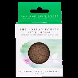 Eponge Konjac visage - Thé vert