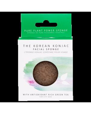 Eponge konjac visage au thé vert. Vertus antioxydantes pour lutter contre le vieillissement cutané