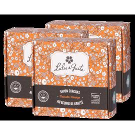 Lot de 3 savons surgras noisette-orange
