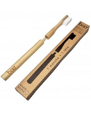 Brosse à dent en bambou biodégradable et compostable pour adulte