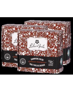 Shampoing solide naturel enrichi en beurre de karité pour hydrater les cheveux et les démêler