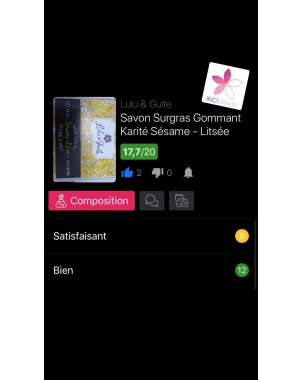 SAVON SURGRAS GOMMANT SESAME-LITSEE CITRONNEE