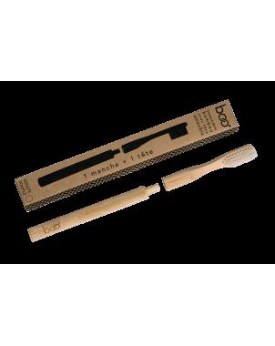 Brosse à dent en bambou biodégradable et compostable pour adulte modèle medium