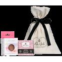 Coffret de soins pour peaux sèches, peaux sensibles et peaux matures : 1 éponge konjac visage + 1 savon
