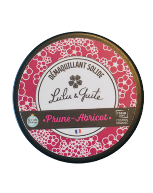 Lot Démaquillant Solide Prune-Abricot + Carré démaquillant lavables BI-FACE (PAR 10)