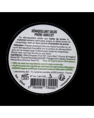 Démaquillant Solide huile de Prune-Abricot