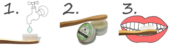 Tuto comment utiliser un dentifrice solide